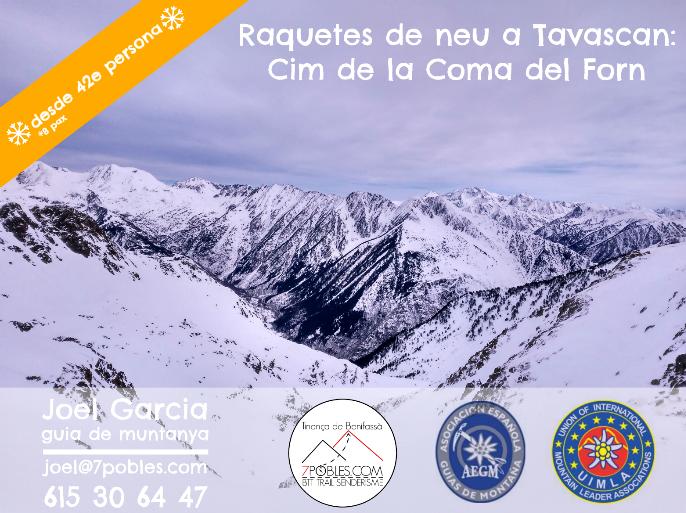 Sortida guiada raquetes de neu a Tavascan: Pic de la Coma del Forn (nivell 3) @ Tavascan | Boixar | Comunidad Valenciana | España